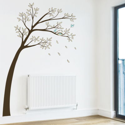Blue Birds in a Pretty Tree - Printed Wall Decals  sc 1 st  Dali Decals & Blue Birds in a Pretty Tree - Printed Wall Decals Graphics Stickers