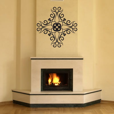 Fireplace Wall Decal