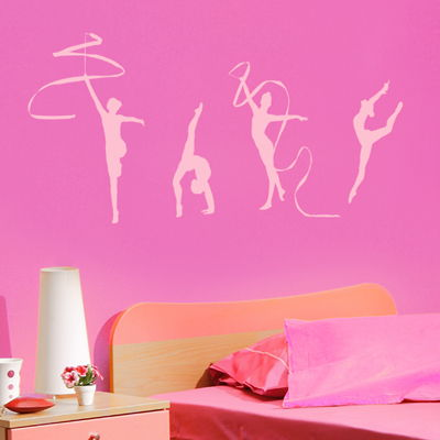Rhythmic Gymnastics   Dance   Set Of 4   Wall Decals