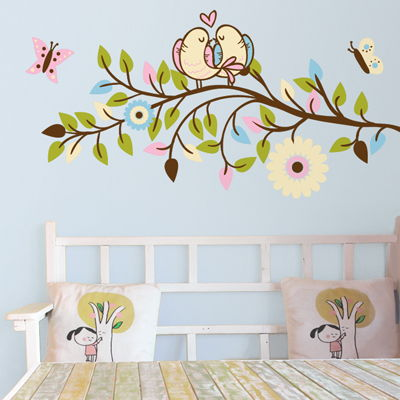 Love Birds On A Branch Printed Wall Decals Stickers Graphics