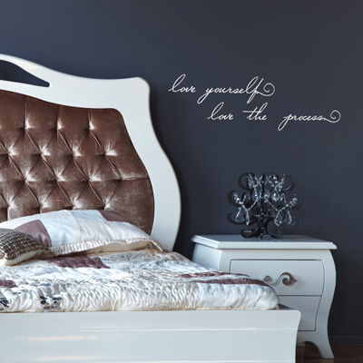 Love Yourself Love The Process Inspirational Quote Wall - Wall decals love