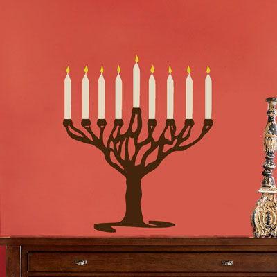 Hanukkah Menorah Jew Wall Decal Sticker Graphic