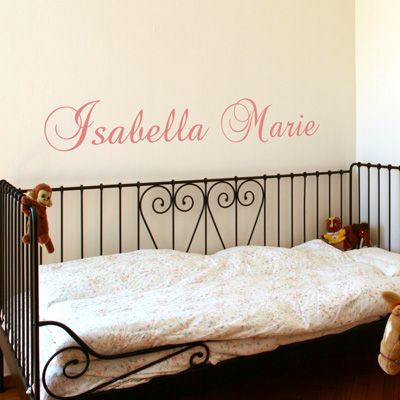 personalized names your child s name vinyl wall decals