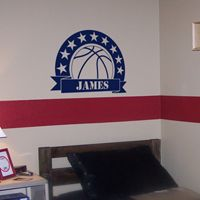 Basketball Star - Personalized Monogram - Wall Decals