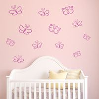 Butterflies - Set of 12 - Wall Decals