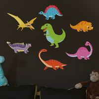 Mini Happy & Fun Dinosaurs - Printed Wall Decals