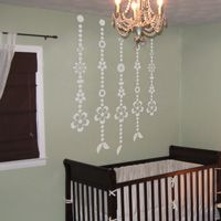 Flower Wind Chimes - Wall Decals