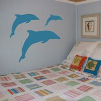 Leaping Dolphins - Set of Three - Wall Decals