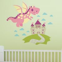 Dragon Adventures - Bubblegum Pink - Printed Wall Decals