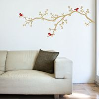 Baby Blossom Branch with Birds- Wall Decals