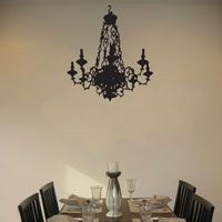 Ornate Chandelier with Candles - Wall Decal