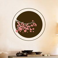 Circle of Cherry Blossoms - Two Color - Wall Decals
