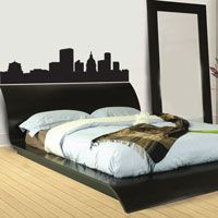 Cityscape - Skyline - Headboard - Wall Decals