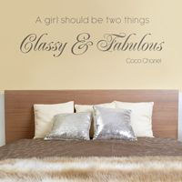 Classy & Fabulous - Quote - Wall Decals