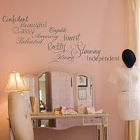 Confident Woman's Words of Wisdom - Inspirational Words - Wall Decals