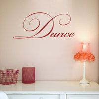 Dance - Ballet Jazz Tap Contemporary - Wall Words Decals