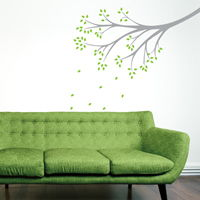 Delicate Whimsical Branch - Wall Decals