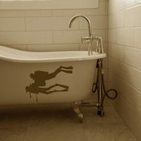 Divers Going Deep - Toilet - Bathtub - Shower - Wall Decals