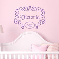 Classic Fairy Tale - Personalized Monogram - Wall Decals