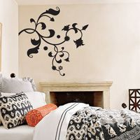 Ornate Floral Decoration Flower Decal - Vinyl Wall Decals