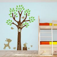 Friendly Forest Animals & Tree - Wall Decals