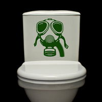 Gas Mask - Toilet Decals - Wall Decals