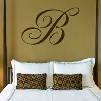 Giant Monogram - Family Name - Wall Decal