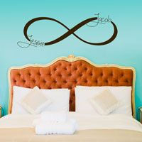 Infinity Symbol Monogram - Personalized Custom Wall Decals