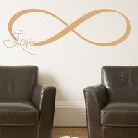 Inspirational Infinity Symbol - Faith Love Strength Family - Wall Decals