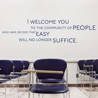 Easy Will No Longer Suffice - Motivational Quote - Wall Decals