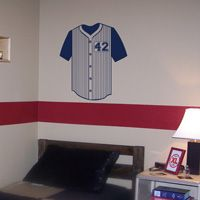 Jersey Monogram - Personalized Team Number - Wall Decals