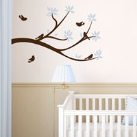 Sweet Little Birds on a Branch - Wall Decals