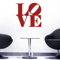 Love - inspired by Robert Indiana - Quote - Wall Decals