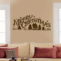 Merry Christmas - Rustic - Wall Decals