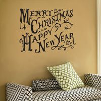 Merry Christmas and Happy New Year - Wall Decals
