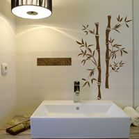 Asian Bamboo - Set of Two - Wall Decals