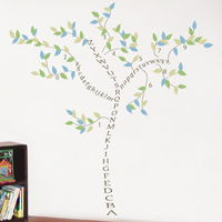 alphabet tree abcs u0026 numbers wall decals