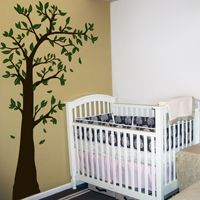 Arching U0026 Waving Tree With Leaves   Wall Decals