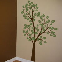 Tall Tree Waving in the Wind - Two Color - Wall Decals