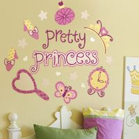 Pretty Princess - Quote - Printed Wall Decals