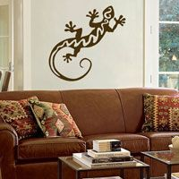 Large Southwest Gecko or Lizard Decal - Wall Decals