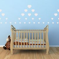 Scattered Hearts - Set of 75 - Heart Wall Decals