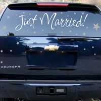 Just Married - Newlyweds - Car Decals - Wall Decals