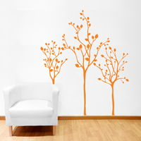 Three Little Trees - Wall Decals