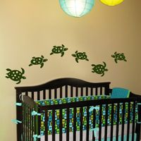 Underwater Sea Turtles - Set of Six - Wall Decals