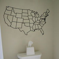 United States - US Map - Wall Decals