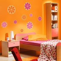 Grapefruit Slices - Set of 12 - Wall Decals
