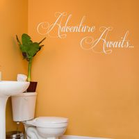 Adventure Awaits - Motivational Quote - Wall Decals
