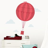 Whimsical Hot Air Balloon & Clouds - Printed Wall Decals