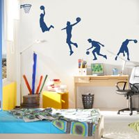 Basketball Player in Action - Wall Decals
